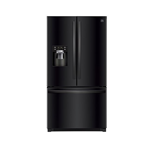 Kenmore 73049 25.6 cu.ft. French Door Refrigerator with Bottom-Freezer in Black, includes delivery and hookup