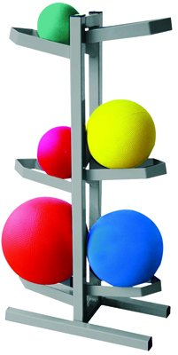 CanDo Plyometric Ball Rack - Two-Sided - Holds 6 Balls - 20''W x 12''D x 32''H by Cando