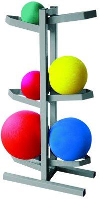 CanDo Plyometric Ball Rack - Two-Sided - Holds 6 Balls - 20''W x 12''D x 32''H