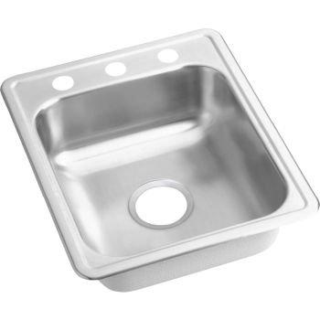 Elkay D117211 Dayton Stainless Steel Kitchen Sink Polished Satin 1 Hole 1 Basins by Elkay