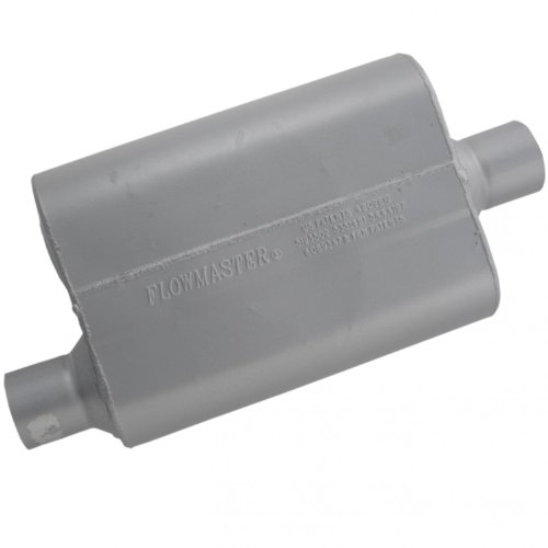 Flowmaster 42541 40 Series Muffler - 2.50 Offset IN / 2.50 Center OUT - Aggressive Sound