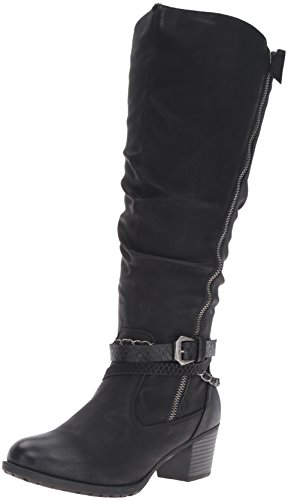 Ronit Spring Women's Step Synthetic Black Boot wSAgC6q