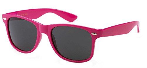 Sunglasses Classic 80's Vintage Style Design (Neon Pink) -
