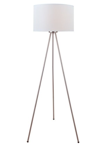 Lite Source LS-82065 Floor Lamp with White Fabric Shades, 24.5