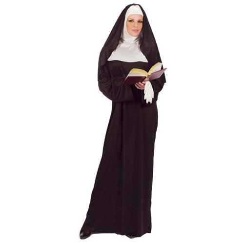 FunWorld Mother Superior Nun, Black, One Size (Standard) ()