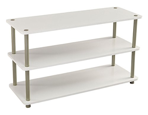ClosetMaid 5013 3-Tier Shoe Organizer, White (3 Rack Shelf Bench)