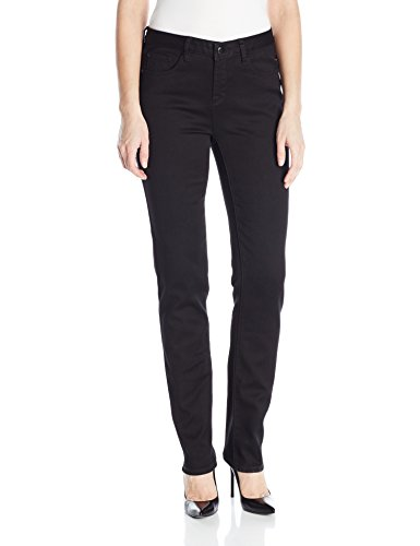 (Tribal Women's 5 Pocket Straight Leg Dream Jean, Black,)
