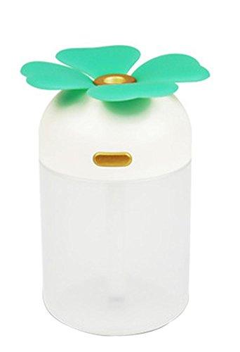 PANDA SUPERSTORE Mini Four-Leaf Clover Portable USB Air Freshener Humidifier, Blue