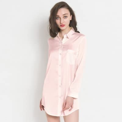 WXIN / Camisón De Seda/Camisa Pijama De Mujer/Chándal De Helado/XL ...