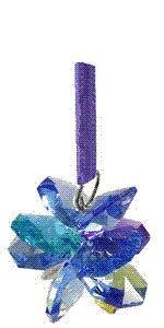 Charm Ornament Blue/Multicolored Starburst - 1.15