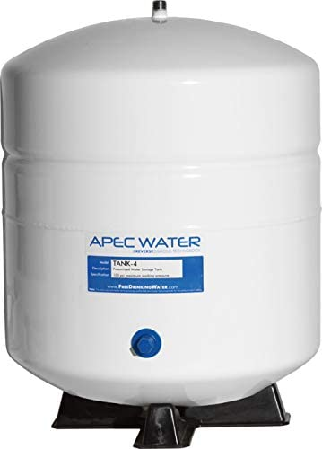 APEC Water Systems TANK-4 4 Gallon Residential Pre-Pressurized Reverse Osmosis Water Storage Tank,White