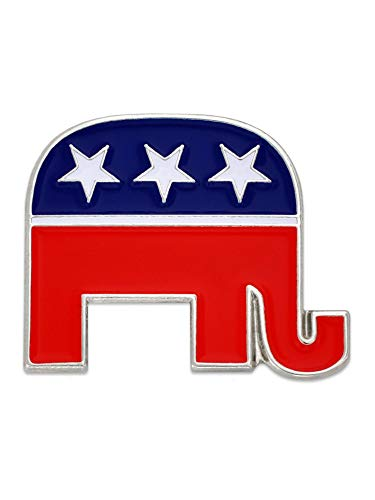 Pin Elephant Republican (PinMart Republican Elephant Patriotic Political Lapel Pin)
