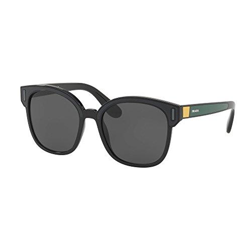Prada Women's 0PR 05US Black/Grey/Yellow/Grey One - Prada Sunglasses Yellow