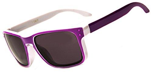 Two Tone Kids K20 Classic Beach Wayfarer Ages 3- 9 UV400 (Purple / White)