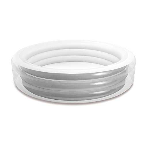 (Intex Round 7.5 Foot Inflatable Family Fun Swimming Center Pool, White | 57192EP)