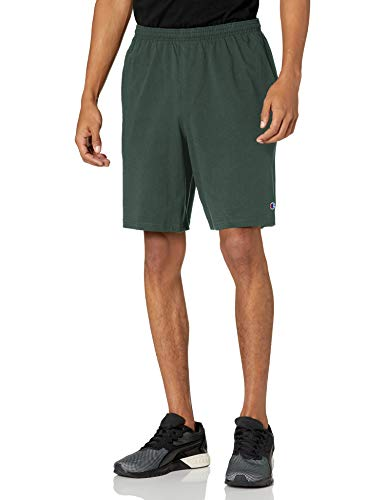 "Champion Men's 9"" Jersey Short with Pockets, Dark"