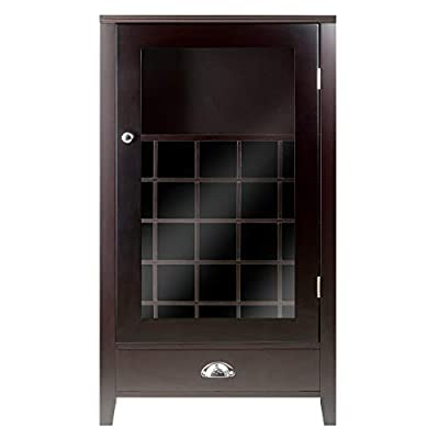 Winsome Wood 25-Bottle Slot Modular Bordeaux Wine Cabinet