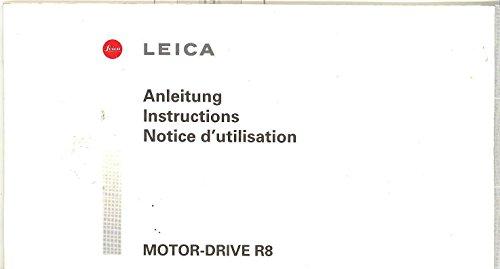 Leica Motor-Drive R8 Original Instruction Manual