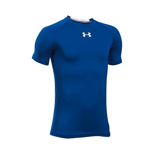 under-armour-boys-heatgear-armour-short-sleeve-fitted-shirt-royal-white-youth-medium