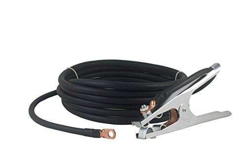 200 Amp Welding Ground Clamp Lead Assembly - Terminal Lug Connector - #2 AWG cable (15 FEET)