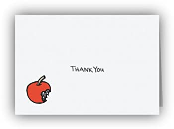 Bitten Apple Thank You Cards - 24 Cards & Envelopes