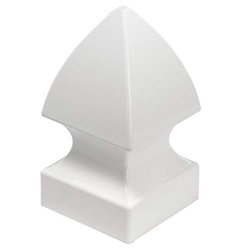 Outdoor Essentials White Vinyl Gothic Fence Post Cap, 4 in. x 4 in.
