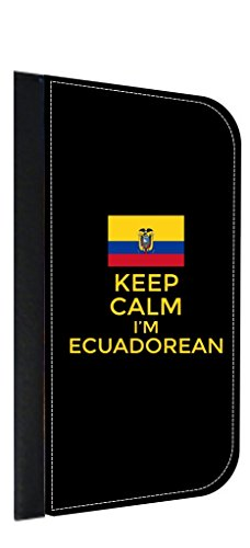 (Keep Calm I'm Ecuadorean Leather and Suede PU Case Compatible with the Apple iPad Mini Versions 1,2, and)