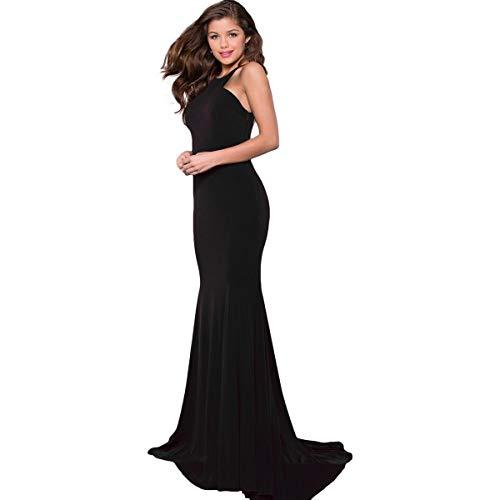 (JVN by Jovani Womens 42892A Prom Cut-Out Evening Dress Black 0)
