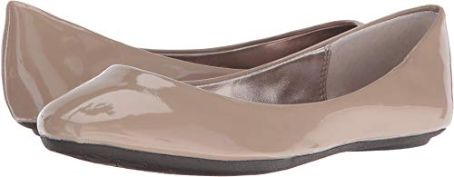 Steve Madden Women's P-Heaven Flat,Taupe Patent,9.5 M US