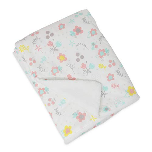 (Lolli by Lolli Living Cotton Baby Blanket with Sherpa. Primrose Print Blanket for Cribs and Strollers (40x30 inch))