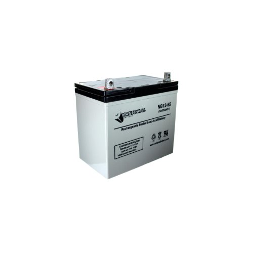 National Battery 12V 55Ah Premium AGM Sealed Lead Acid Battery NB12-55 by National Battery Corporation
