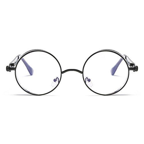 para sol gótico Steampunk mujeres hombres metal Juleya de gafas de C8 gafas redondo retro UV400 espejo vintage q8XCwdU