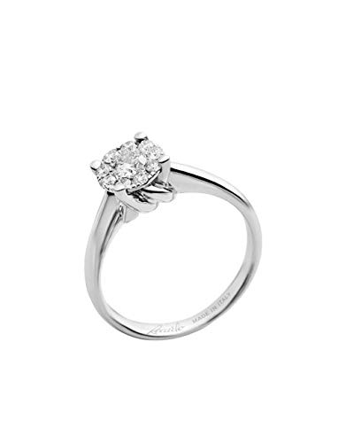acheter en ligne styles de mode rechercher le dernier Recarlo - Anello Oro Bianco 18 kt carati con Diamante ...
