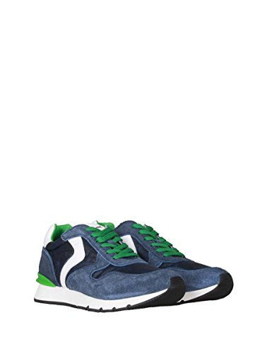Voile Blanche Zapatillas de Piel Para Hombre Azul Blu Bianco