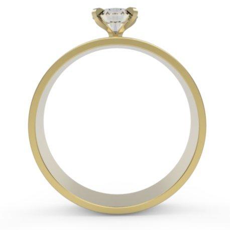 FLORA Bagues Or Jaune 18 carats Saphir Blanc 0,6 Rond