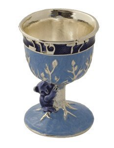 Hand Painted Small Koala Kiddush Cup by Quest Gifts