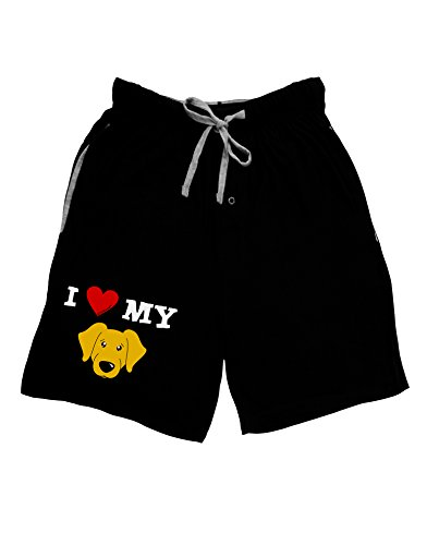 Retriever Mens Shorts - TooLoud I Heart My - Cute Yellow Labrador Retriever Dog Adult Lounge Shorts - Black- Large