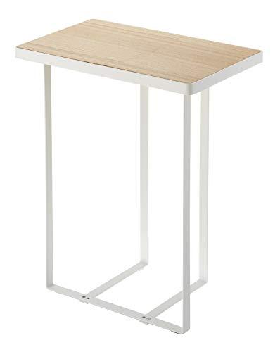 YAMAZAKI home Tower Side Table and Magazine Rack, White (Home Magazine Furniture)