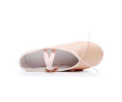 Baile Ballet Zapatillas Para Desnudo Cuero Niños Danza Zapatos Dogeek De YnqpgxE