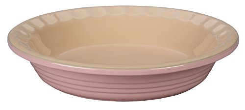 Le Creuset of America Stoneware Pie Pans, 9-Inch, Hibiscus