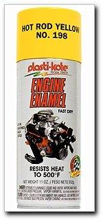 PlastiKote 198 Hot Rod Yellow Engine Enamel - 12 Oz.