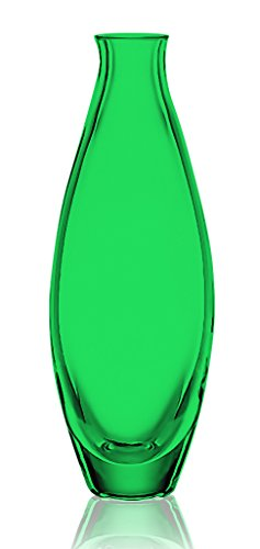 Emerald Green Lenox Garden Crystal Bud Vase 7.5-Inch Height -set of 1- Additional Vibrant Colors Available by TableTop King