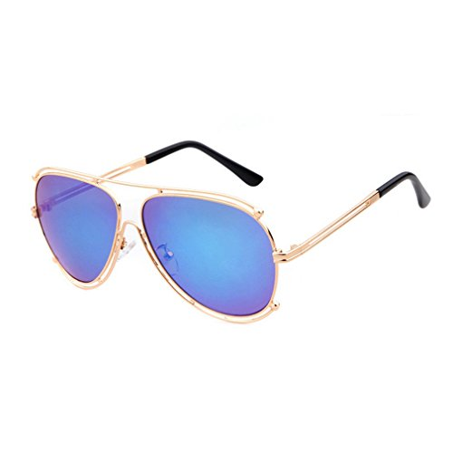 W-Q 2016 New Womens Trendy Personality Aviator Style UV Protection Driving Sunglasses(C3) (No Prescription Color Contacts)