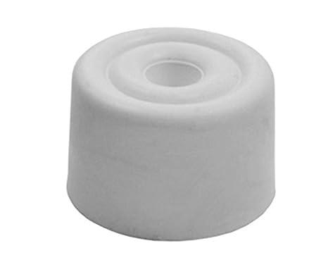 Sysfix Tope de Puerta atornillable nº 5 Blanco (Caja de 10 Unidades con Tacos y Tornillos), 3x3x2 cm: Amazon.es: Hogar