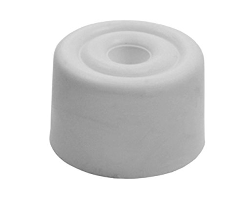 Sysfix 2310501 - Rubber Door Stopper with Screw No. 5Pack of 10with Plugs and Screws, White Sysfx