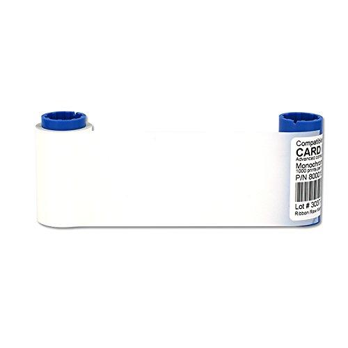 Color Ribbon For Zebra P300 P310 P320 P330 Printers 800015-109 White ()
