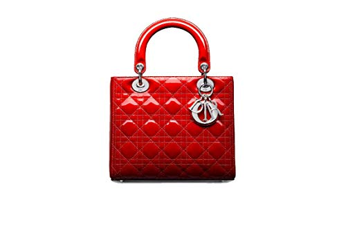 DR. DIOR BAG IN BRIGHT RED PATENT CANNAGE CALFSKIN (Red)