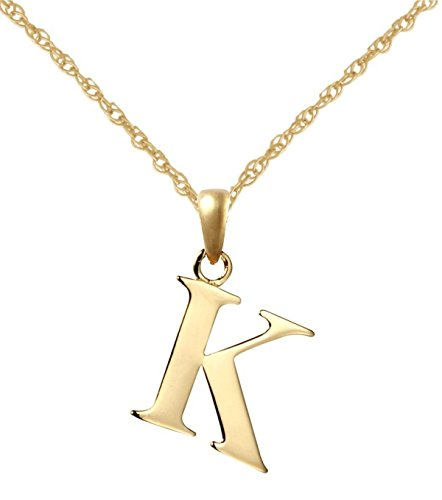 9ct yellow gold initial k pendant with 18 9ct gold rope chain 9ct yellow gold initial k pendant with 18quot 9ct gold rope chain aloadofball Gallery