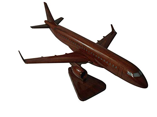 Embraer 190 Mahogany Wood Desktop Aircraft Model from Tesaut Desktop Models