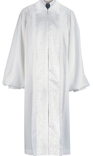 Pulpit Robe - White Pulpit / Pastor Robe (Medium 55)